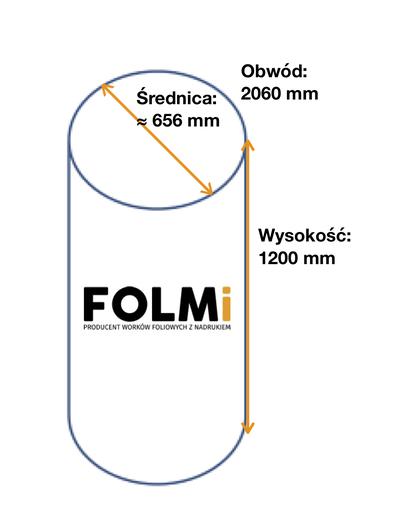 Worki do odciągu trocin 1030x1200mmFi656mm regranulatbezbarwny