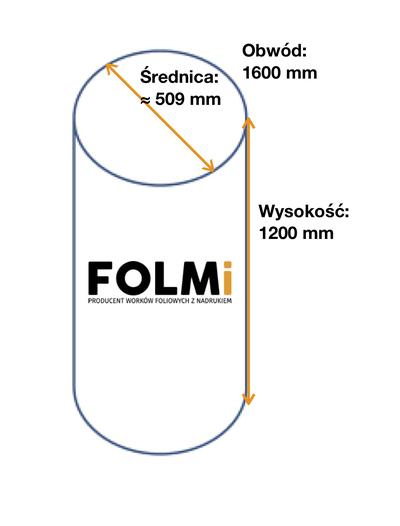 Worki do odciągu trocin      800x1200mmFi509 mm regranulatbezbarwny