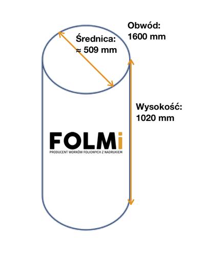 Worki do odciągu trocin      800x1020mmFi509 mm regranulatbezbarwny